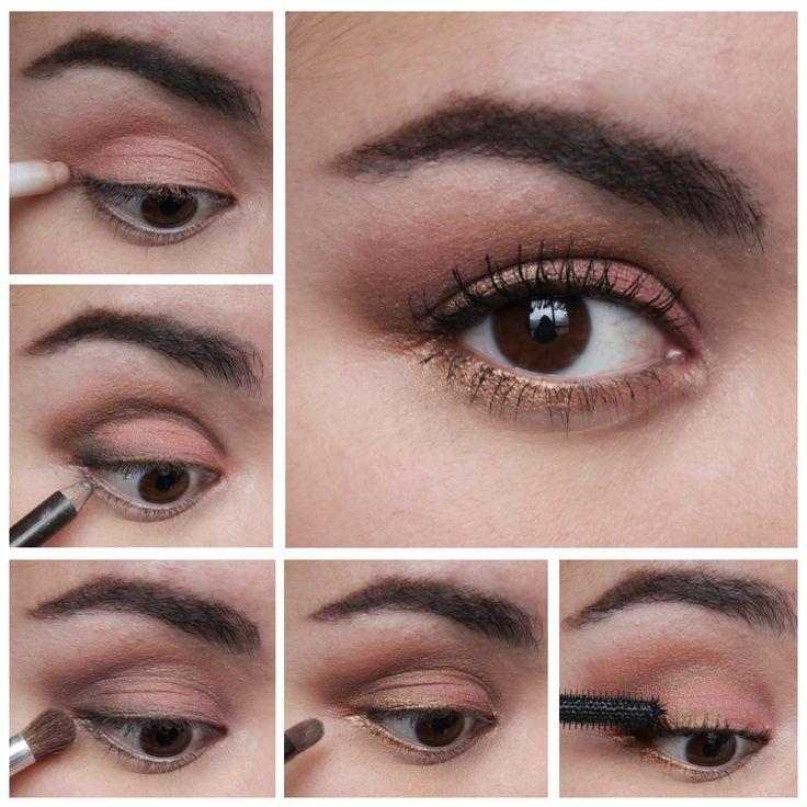Brown Smokey eye makeup tutorial - Golden Liner for brown eyes