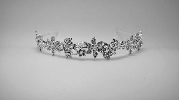 Flowery Pearl and Diamante Bridal Headband
