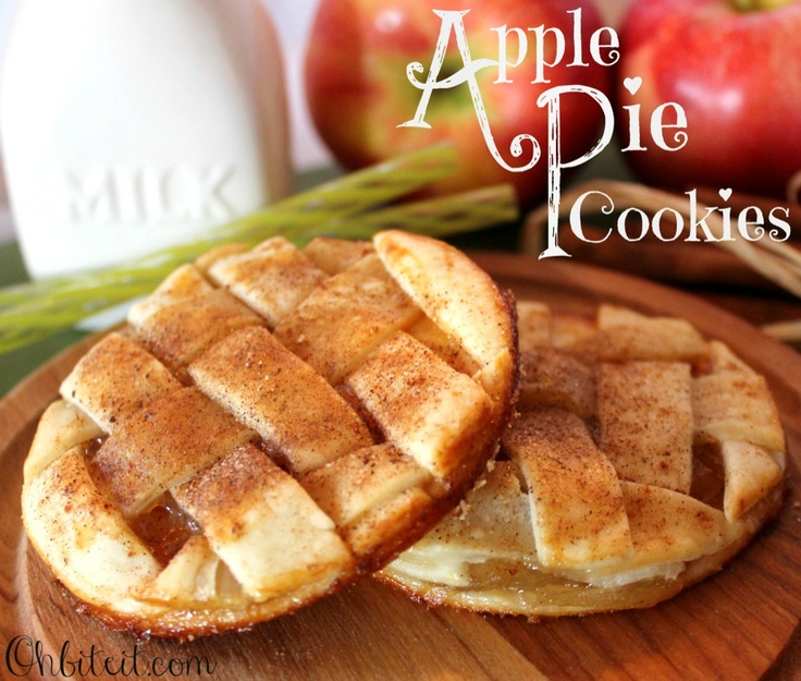 Apple Pie Cookies. Use refrigerated pie crust sheets, can of apple pie