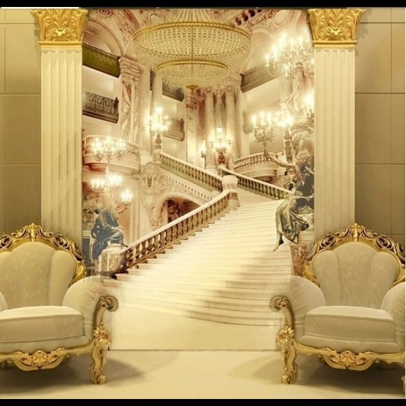 Her Majesty  Customizable 3D wallpaper. Please give height and width, in cm, of the space you want to fill. Price is per square meter. Accessories