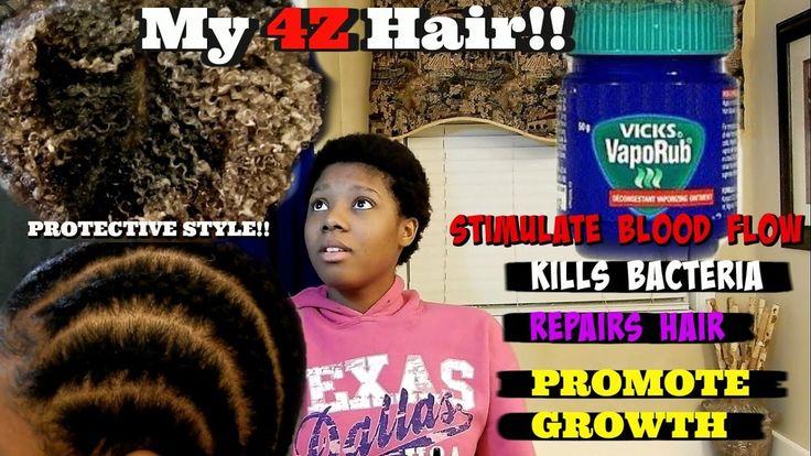 Vicks Vapor Rub |  Grow Edges, Natural / Relaxed Hair  | Part # 2 Deja's...