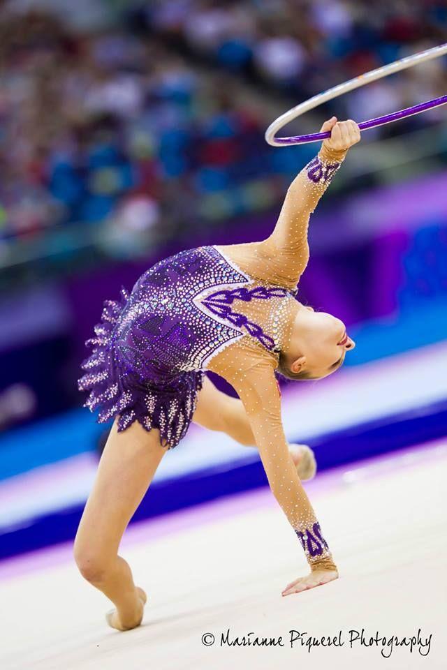 Melitina Staniouta (Belarus) won bronze medal in hoop final at World Cup (Budapest, Hungary) 2015