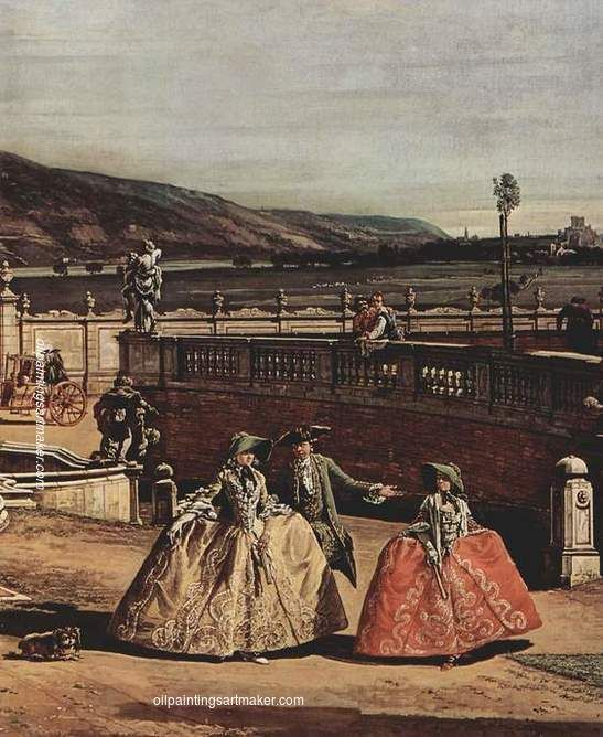 Bernardo Bellotto The imperial summer residence, courtyard, 1758 oil painting for sale, painting Authorized official website