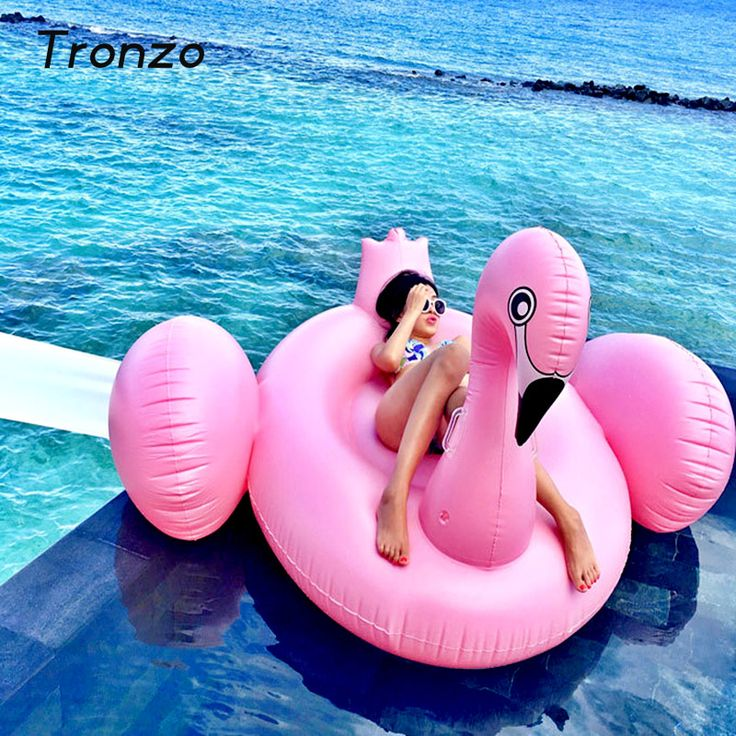 Tronzo 150CM Pink Inflatable Flamingo Pool Float Toys Giant Swimming Pool Ring For Adult Water Holiday Tropical Party Supplies  #Affiliate