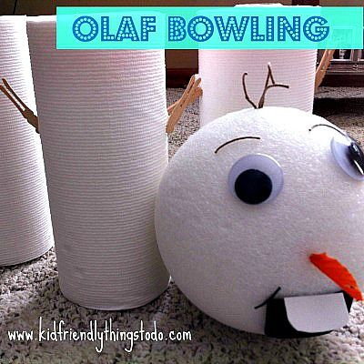Olaf the Snowman from Frozen,  Bowling Game!