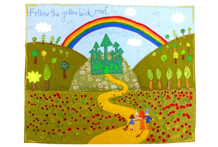 Laura Rose - Follow The Yellow Brick Road - Textiles