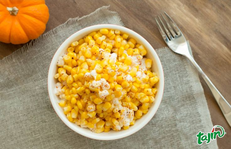 Yellow corn with cream, mayonaise and Tajín