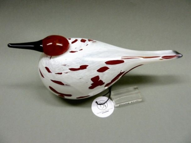 Marshland Snipe - Suokurppa punainen | Chlas Atelier / Size : 32 x 13 cm /Page : not in the Toikka book / Special bird made for Stockmann Finland LTD xxx-150 version.