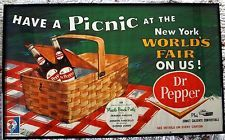 1964 New York World's Fair Advertising Sign Poster~Dr Pepper &Muscle Beach Party