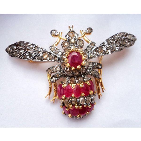 Handmade diamond Brooch cum Pendant