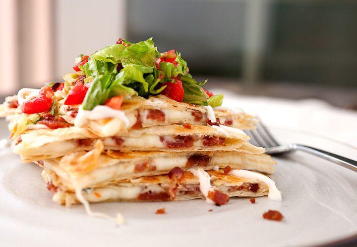 BLT Quesadillas:  Bread has got literally nothing on a cheesy tortilla. - Delish.com