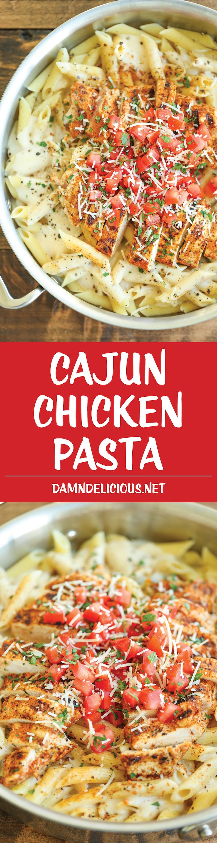 Recipe: Cajun Chicken Pasta - Chili's copycat recipe made at home with an amazingly creamy melt-in-your-mouth alfredo sauce. And you know it tastes 10000x better!