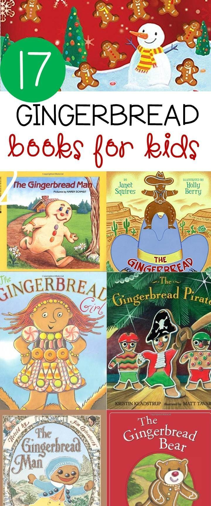 These 17 gingerbread books for kids are sure to be a hit this Christmas. They are great winter read alouds to get you in the holiday spirit!
