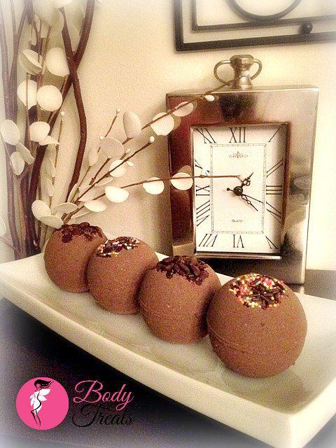Bath Bomb Fizzies - Peruvian Cocoa & Cafe Mocha Handmade Bath and Body Home Spa