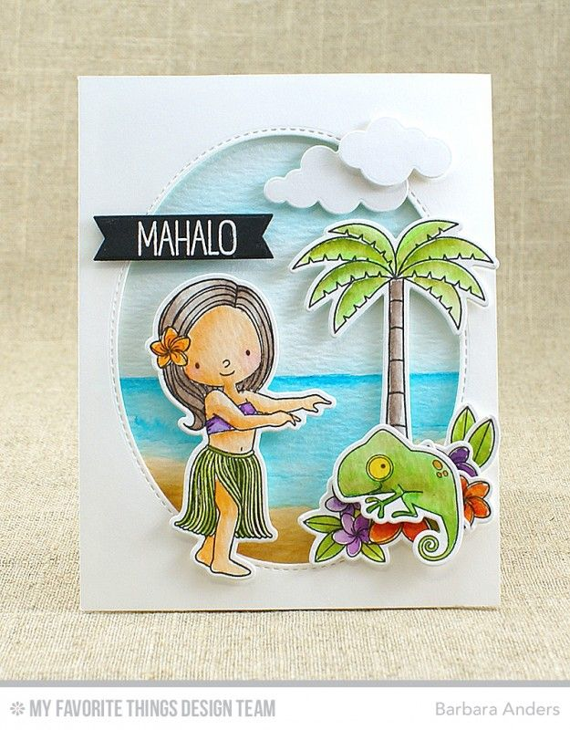 Card Making Paradise Part - 30: Polynesian Paradise Stamp Set And Die-namics, Penguins In Paradise Stamp  Set And Die-namics, Puffy Clouds Die-namics, Inside U0026 Out Stitched Oval  STAX ...