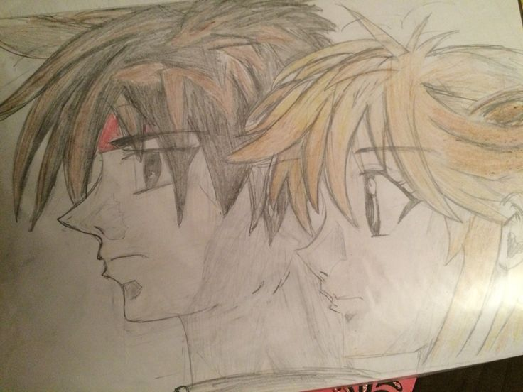 My drawing of Orphen and Cleo