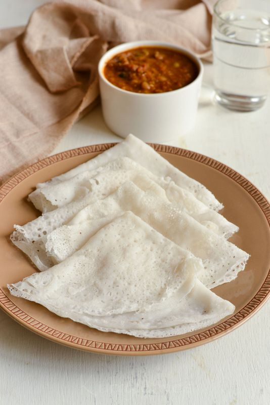 Instant Neer Dosa | Rice And Coconut Crepes | Gluten Free Crepes| Quick Breakfast Recipe | kurryleaves