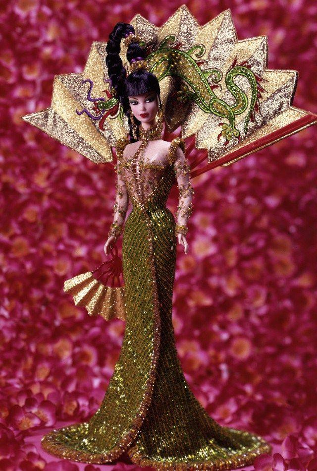 Bob+Mackie+Barbie+Dolls | Bob Mackie Fantasy Goddess of Asia Barbie Doll