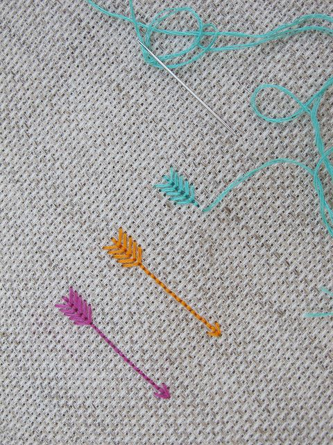 How easy are these cross-stich arrows? We'd like to try one on our new Mason bag. #DIY