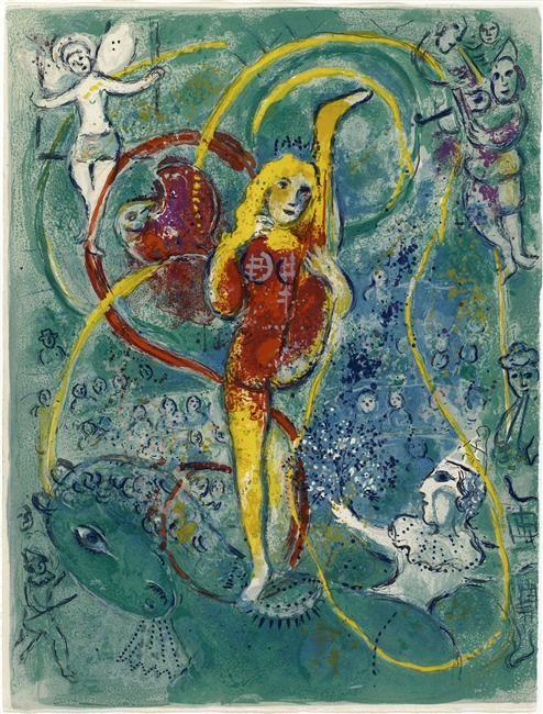 Illustration de la série : Cirque. Chagall, 1966-7.                                                                                                                                                     Plus