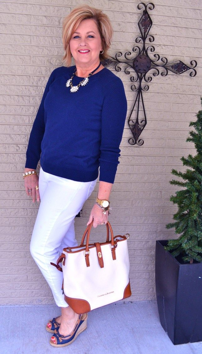 50 Is Not Old | Navy & White | Fashion over 40 for the everyday woman