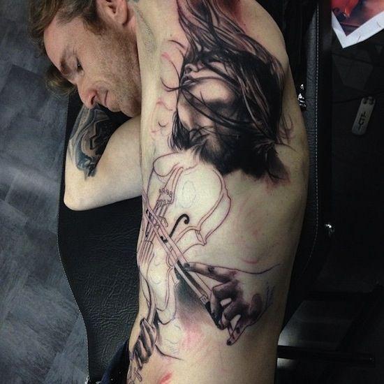 tattoo in progress by Florian Karg   tattoo artist  Bayern, Germany