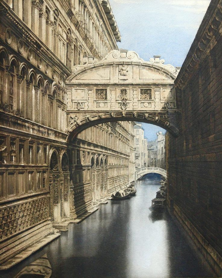 "jerzee55z:  ""Gustave Dore - The Bridge of Sighs, Venice [c.1870]  """