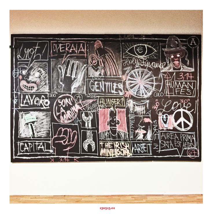 THE GENTILE WORKER - sound-chalkboard drawing at siller treppen in sinich/sinigo [italy]
