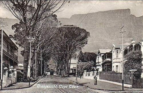 An old picture taken in Oranjezicht, a city bowl suburb of Cape Town.