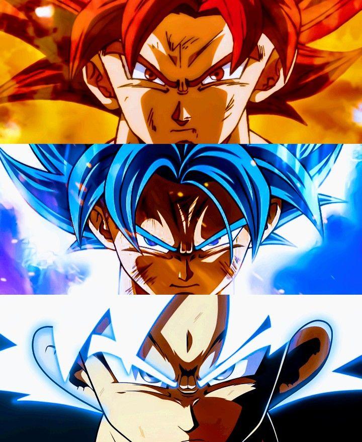 Goku Super Forms Dragon Ball Super Personajes De Goku Personajes De Dragon Ball Pantalla De Goku