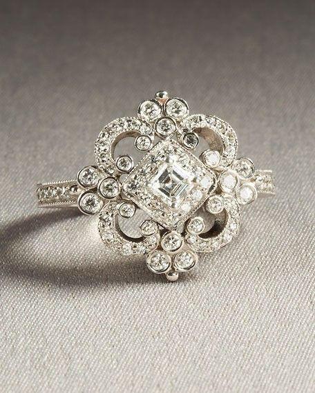vintage wedding ring; beautiful as a right hand ring