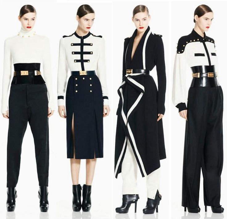 military inspired, navy & white,  Alexander McQueen