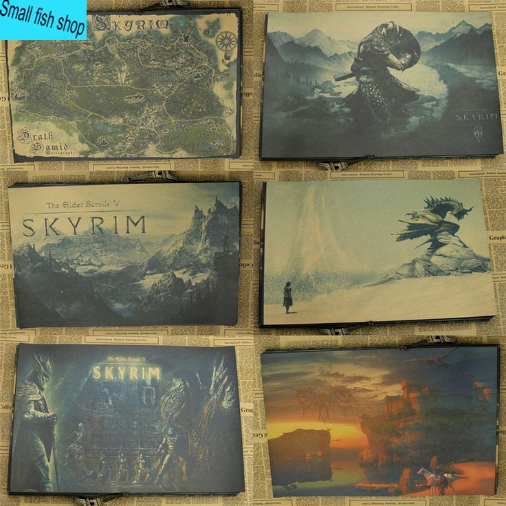 The Elder Scrolls 5 Skyrim Game Poster Home Furnishing decoration Kraft Game Poster Drawing core Wall stickers♦️ SMS - F A S H I O N 💢👉🏿 http://www.sms.hr/products/the-elder-scrolls-5-skyrim-game-poster-home-furnishing-decoration-kraft-game-poster-drawing-core-wall-stickers/ US $1.50
