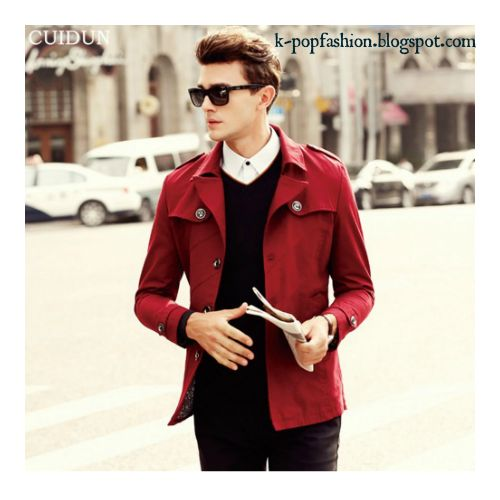 Luxury Single Breasted Trench Coat Men's