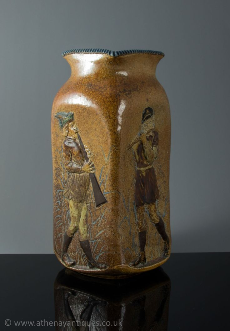 A Martin Brothers Stoneware Vase Dated 1903