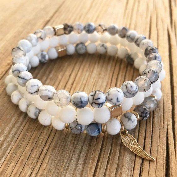 Bracelet Set pour hommes – hommes perles Bracelet – homme pierres précieuses Bracelet – hommes bijoux – cadeau homme – cadeau de mari – copain cadeau – mâle – Mode masculine