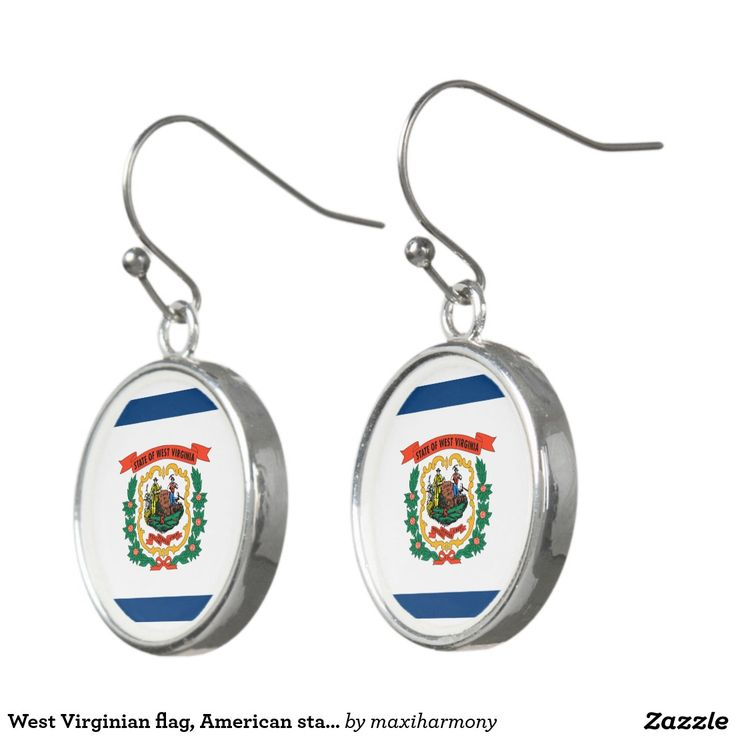 West Virginian flag, American state flag Earrings