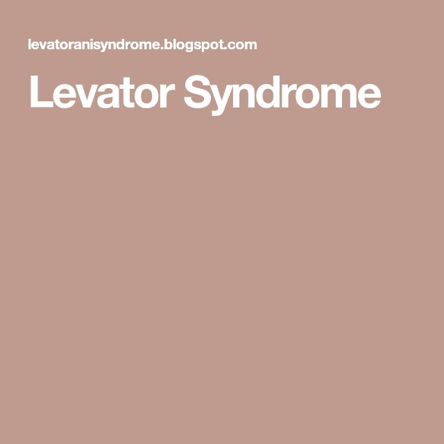 What causes levator syndrome-8071