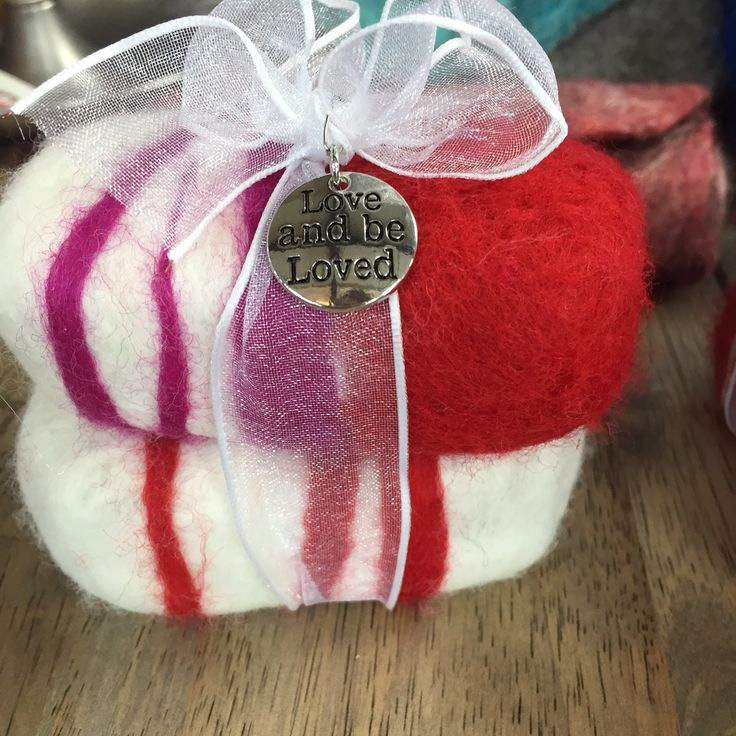 Hand felted soap! Nice for Valentines Day!