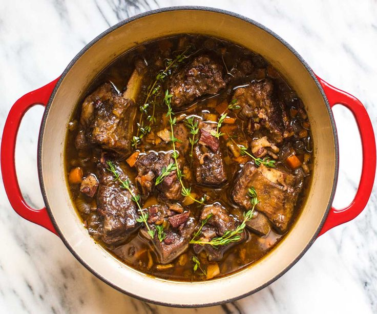 Braised Short Ribs in the Dutch Oven (and 9 other easy one-pot recipe ideas)! | pinchofyum.com