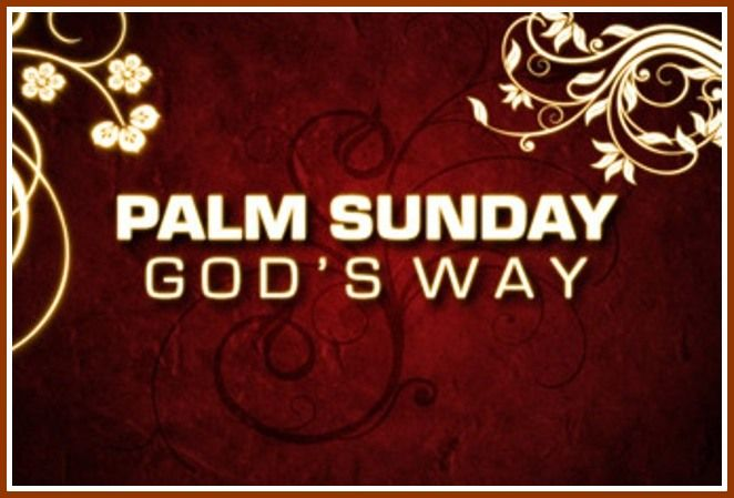 palm sunday message sermon