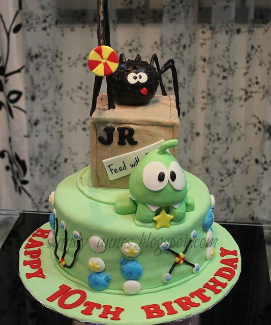 Cut The Rope Cake by simply anne, via Flickr