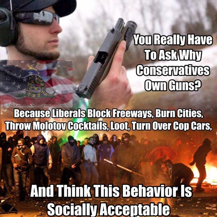 Rioting, looting, flipping cars over, blocking freeways... these are all acceptable Liberal behaviors ~@guntotingkafir