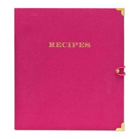Sugar Paper Raspberry Recipe Binder