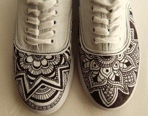 custom shoes - henna inspired