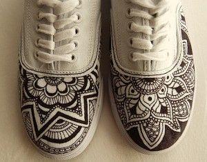 custom shoes - henna inspired