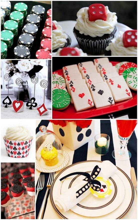 Poker themed wedding event for Decoration poker
