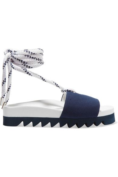 Joshua Sanders - Blue Sailor Canvas Slides - Navy - IT37
