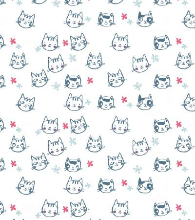 hand-drawn-cat-pattern-illustration