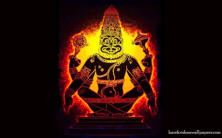 To view Narasimha Deva wallpapers in difference sizes visit - http://harekrishnawallpapers.com/sri-narasimha-deva-artist-wallpaper-001/